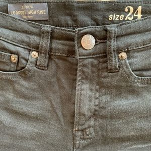 JCrew jeans high rise look out black size 24